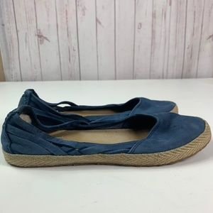 Ugg Flats shoes women's size 9 blue leather